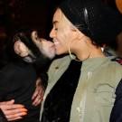 Beyonce kissing a monkey
