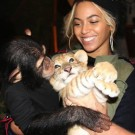 Beyonce with a monkey