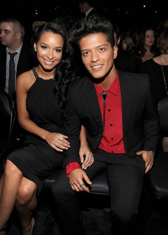 Bruno Mars and Jessica Caban