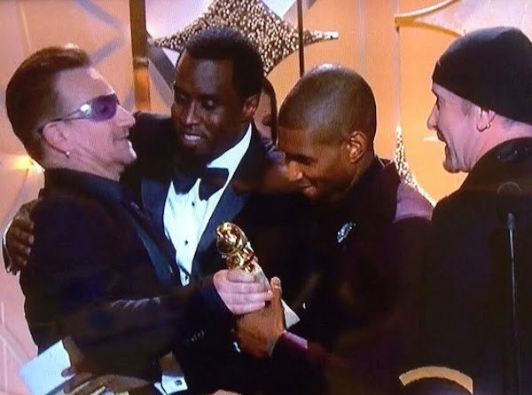 Diddy and Bono Golden Globe
