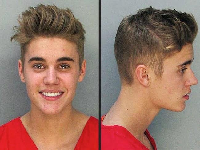 Justin Bieber mugshot 2014