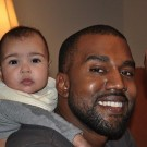 Kanye West and North West photo