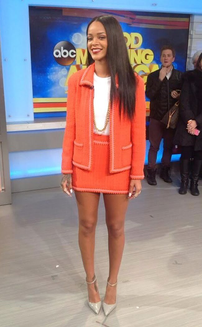 Rihanna GMA 2014