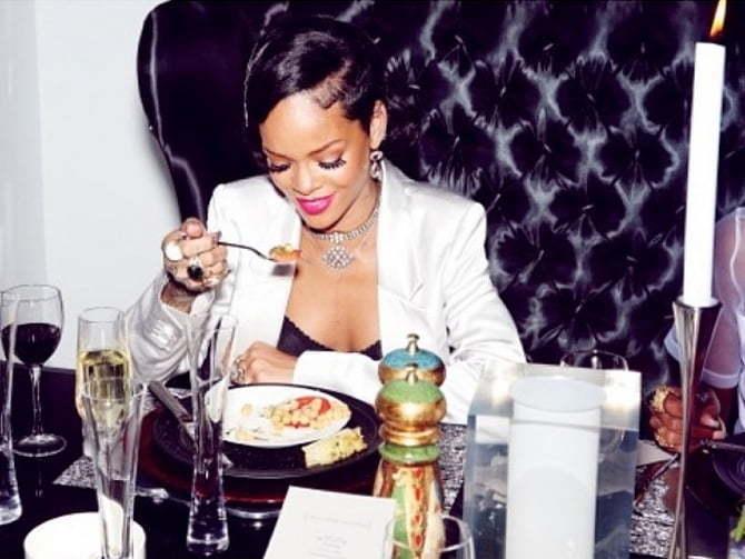 Rihanna New Years Party 12