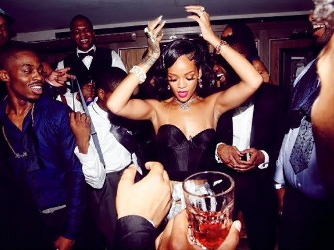 Rihanna New Years Party 2