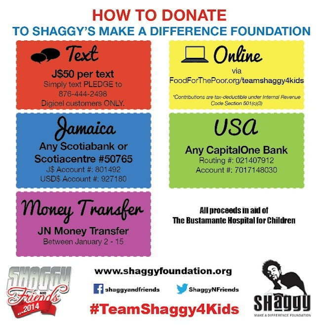 Shaggy and friends donation