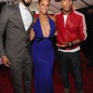 Swizz Beatz Alicia Keys and Pharrell Grammy 2014