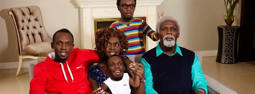 Usain Bolt family photo virgin media