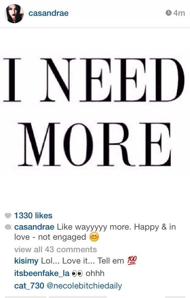 Cassie engage