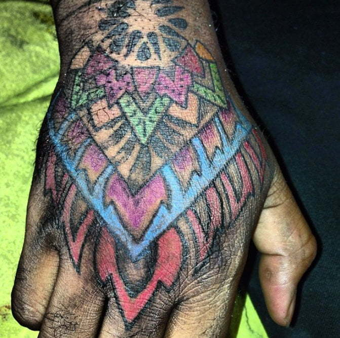 Demarco hand tattoo 1