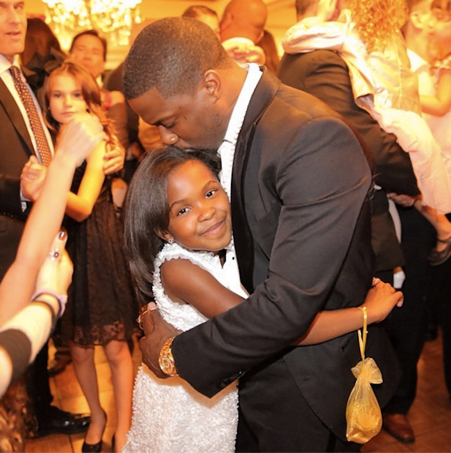 Kevin Hart and daughter Heaven Leigh
