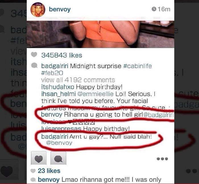 Rihanna fan gay instagram
