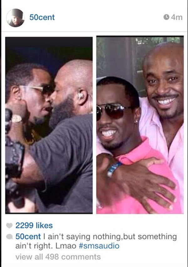 50 Cent instagram diddy rick ross