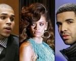 Chris Brown Rihanna and Drake pic