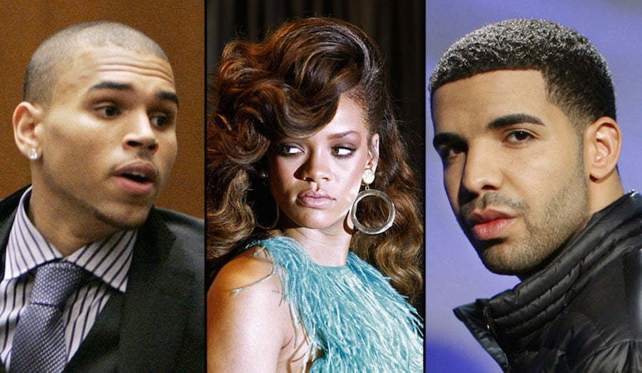 Chris Brown Rihanna and Drake pic