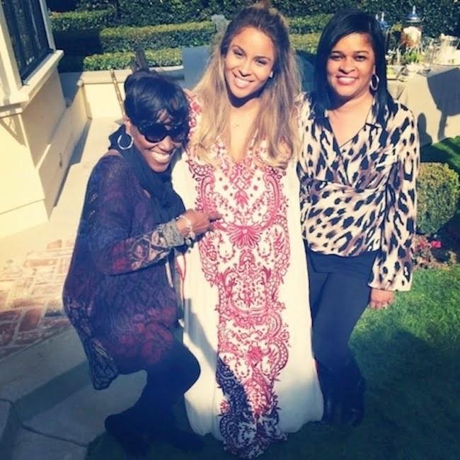 Ciara and her mom Future mom