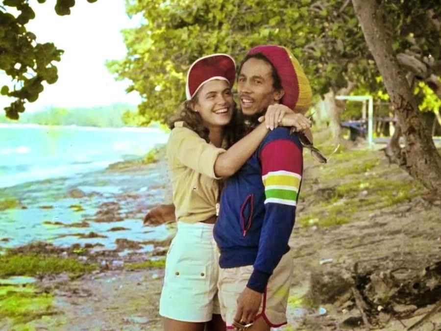 Cindy Breakspeare and Bob Marley