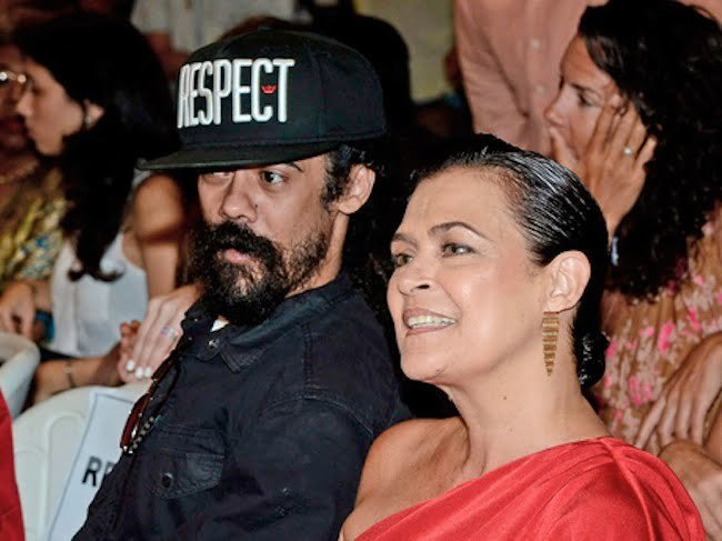 Damian Marley and Cindy Breakspeare