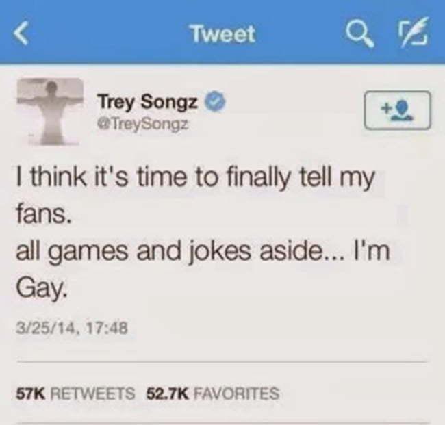 Trey Songz Im Gay Tweet