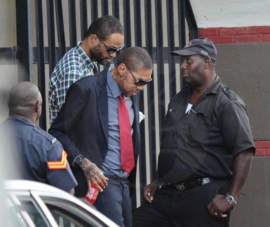 Vybz Kartel leaving court