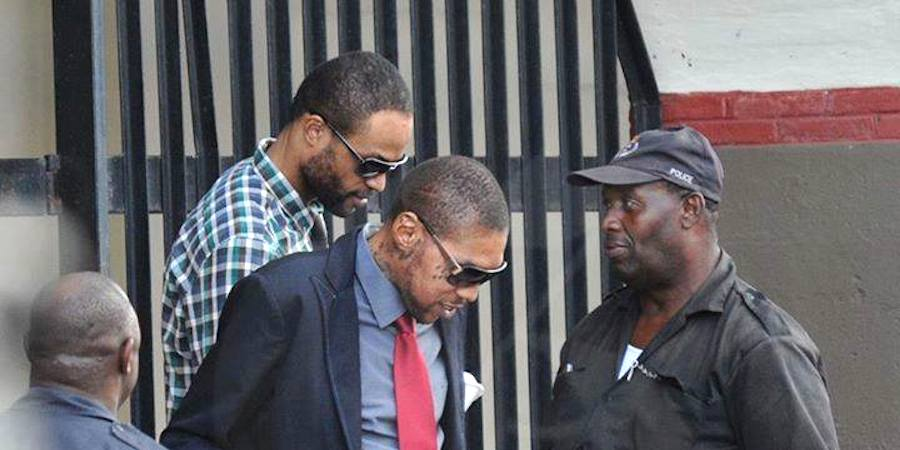 Vybz Kartel leaving court
