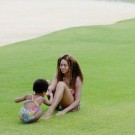 Beyonce and Blue Ivy in Caribbean