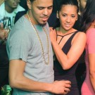 J Cole and his girlfriend