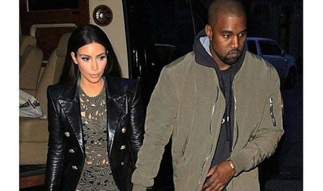 Kim and Kanye 2015