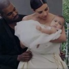 Kim and Kanye and North West Vogue