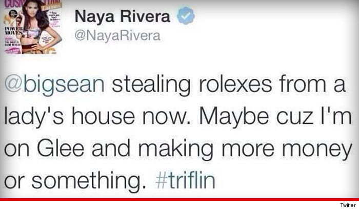 Naya Rivera Big Sean tweet
