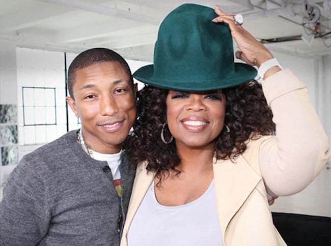 Pharrell and Oprah
