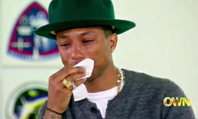 Pharrell crying on Oprah Prime