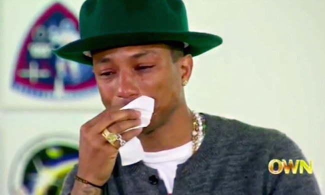 Pharrell crying on Oprah Prime