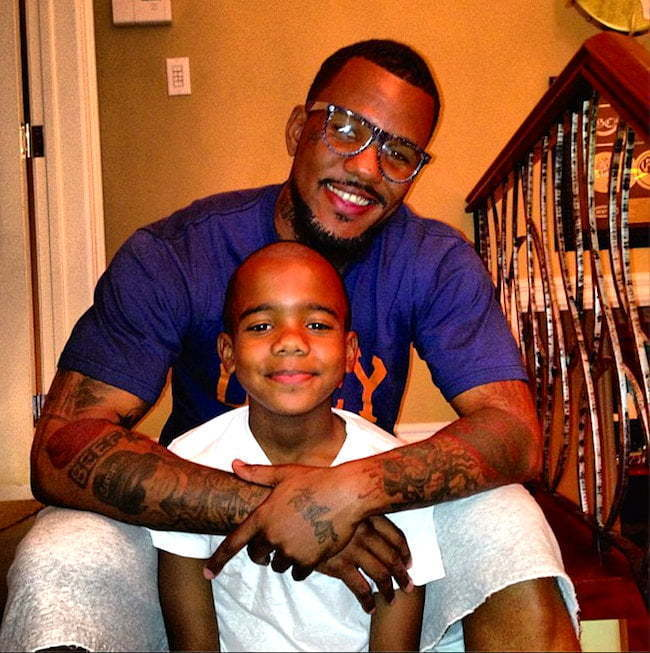 The Game and his son
