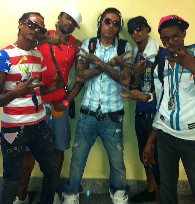 Vybz Kartel Shawn Storm and friends