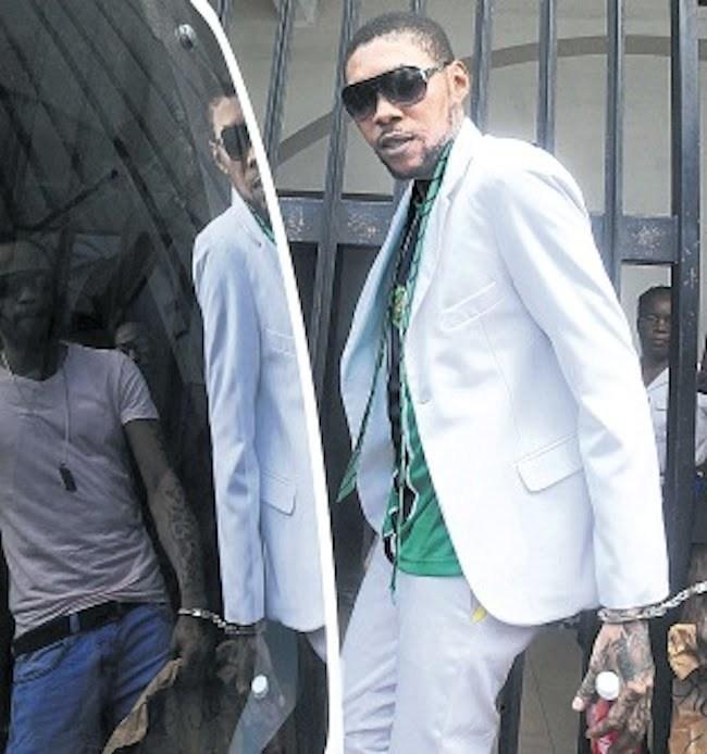 Vybz Kartel leaving court 2014