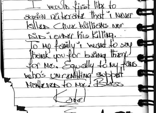 Vybz Kartel sentence statement