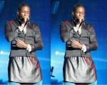 Aidonia wearing skirt