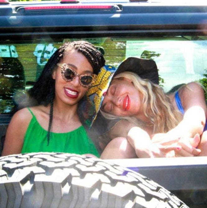 Beyonce and Solange pic