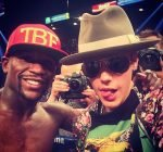 Floyd Mayweather and Justin Bieber