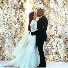 Kanye West Kim Kardashian wedding pic