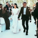 Kim and Kanye wedding photo