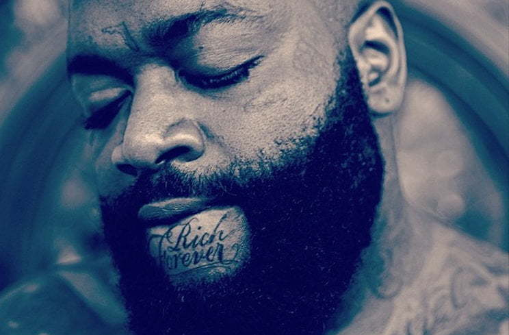 Rick Ross Rich Forever face tattoo
