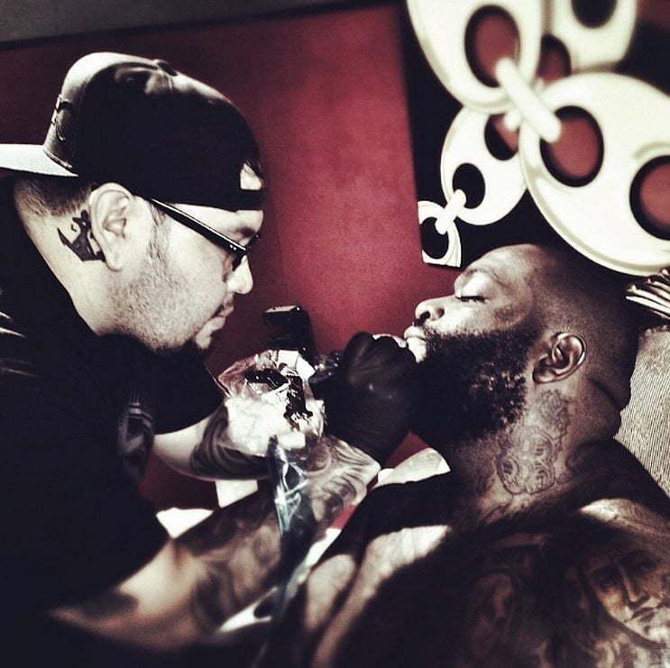 Rick Ross face tattoo
