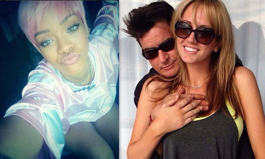 Rihanna Charlie Sheen Breet Rossi