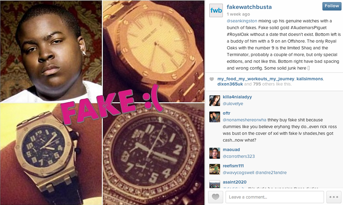 Sean Kingston Fake Watch