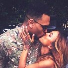 Chris Brown kissing Karrueche