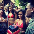 Chris Brown welcome home party 2