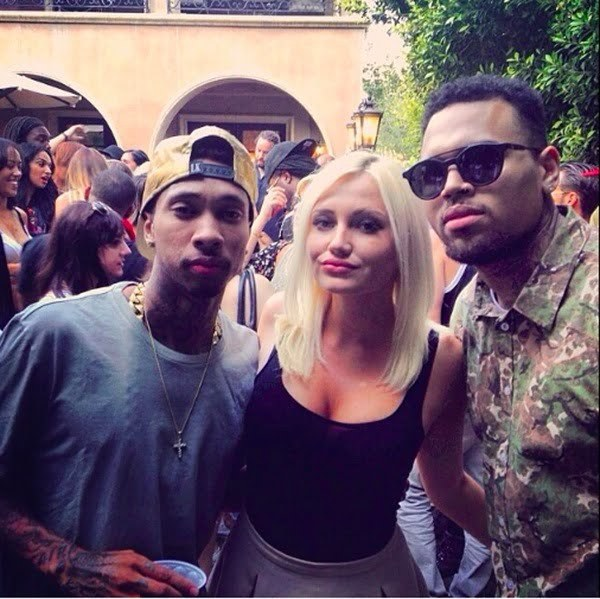 Chris Brown welcome home party 3