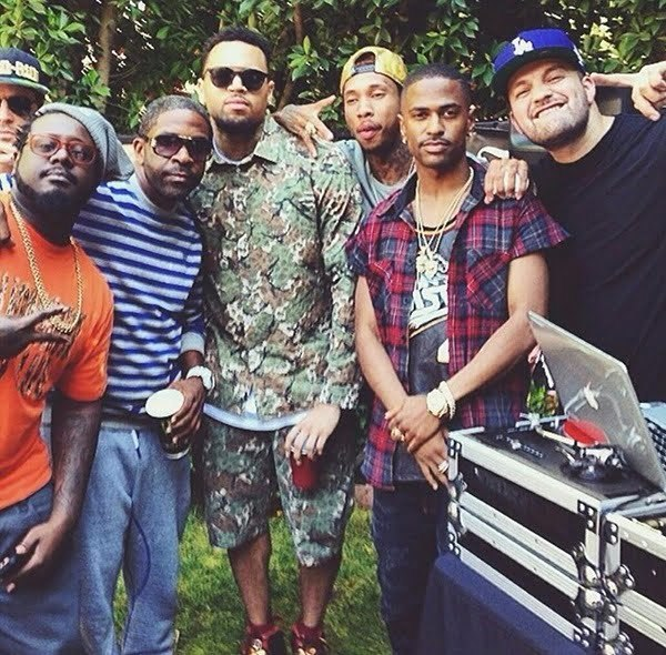 Chris Brown welcome home party
